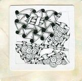 Искусство Zentangle Стоковое Изображение