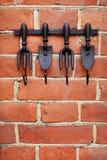 Исключительные крюки в форме трёхзубца чугуна Стоковые Фотографии RF