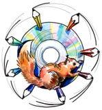 диск иллюстрация штока