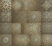 исламская картина Безшовная арабская геометрическая картина, восточный орнамент, индийский орнамент, персидский мотив, 3D Бесконе Стоковые Изображения