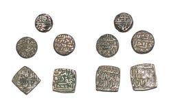 Исламские монетки султаната Индии стоковое фото