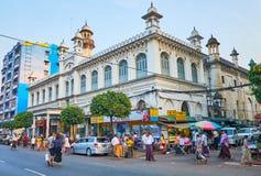 Исламские ориентир ориентиры в Янгоне, Мьянме стоковое фото