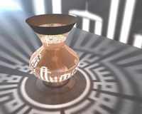 исламский светильник 3d Стоковое фото RF