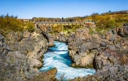 Исландская кольцевая дорога которая идет полностью вокруг Стоковое фото RF