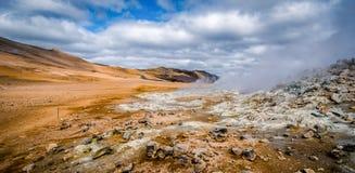 Исландская кольцевая дорога которая идет полностью вокруг Стоковые Фото