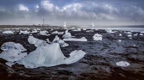 Исландская кольцевая дорога которая идет полностью вокруг Стоковые Изображения RF