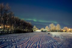 Исландские света стоковые фотографии rf