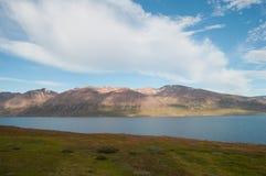 Исландский горный вид в Eyjafjordur Стоковое Изображение