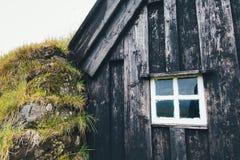 Исландский дом дерновины Стоковое фото RF