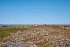 Исландский ландшафт в borgarfjordur Стоковое Изображение
