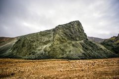 Исландский ландшафт горы, лето s гор Landmannalaugar Стоковая Фотография RF