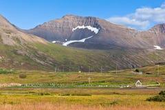 Исландский ландшафт гор Стоковое Изображение