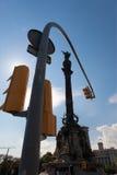 Испания Барселона Памятник Колумбуса Стоковые Изображения RF