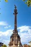 Испания. Барселона. Памятник Columbus.Cityscape стоковое фото