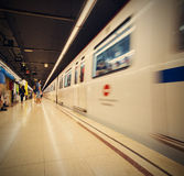 Испания, Барселона 2013-06-13, станция метро Verdaguer Стоковое фото RF