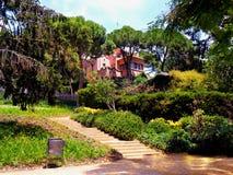 Испания, город Барселоны, парка Guell, дома Антонио Gaudi Стоковые Изображения