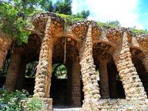 Испания, город Барселоны, парка Guell, дома Антонио Gaudi Стоковые Изображения RF