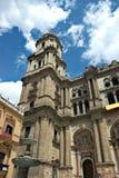 Испания, Малага Взгляд собора стоковые фотографии rf