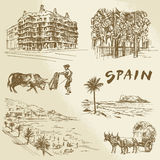Испания - рука нарисованное собрание Стоковая Фотография RF