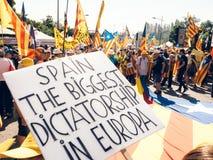 Испания самая большая диктатура в парламенте протеста Европы стоковые изображения