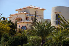испанская вилла Стоковая Фотография