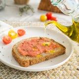 Испанская здравица томата стоковая фотография rf