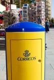 Испанская коробка столба стоковая фотография