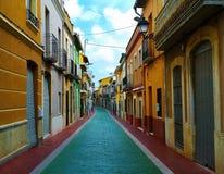 Испанская красивая старая улица Стоковое Изображение