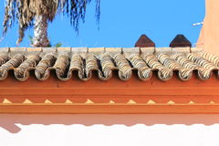 Испанская крыша плитки Стоковое фото RF