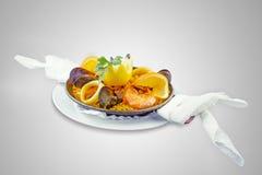 Испанская паэлья блюда Стоковые Фото