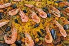 Испанская паэлья Стоковая Фотография