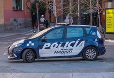 Испанская полицейская машина в Мадриде стоковое фото