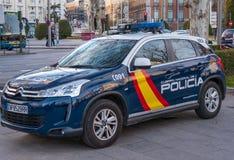 Испанская полицейская машина в Мадриде стоковые изображения rf
