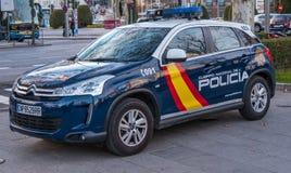 Испанская полицейская машина в Мадриде стоковая фотография
