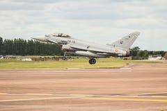 Испанская посадка тайфуна военновоздушной силы Стоковые Фотографии RF