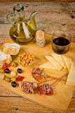 Испанские ветчина и сыр Стоковые Изображения RF