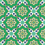 Испанские классические керамические плитки делает по образцу безшовное Стоковое Фото