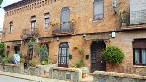 Испанские дома стоковая фотография rf