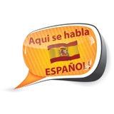 Испанские пузырь/стикер речи бесплатная иллюстрация