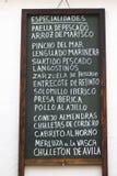 Испанские разрекламированные тапы Стоковое фото RF