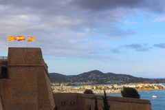Испанские флаги стоковое изображение rf