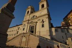 Испанские шаги, небо, здание, историческое место, ориентир ориентир Стоковая Фотография RF