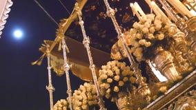Испанские шествия святой недели, неделя пасхи (Semana Санта) сток-видео