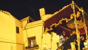 Испанские шествия святой недели, неделя пасхи (Semana Санта) видеоматериал