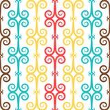Испанские языки завивают орнаментальную керамическую плитку Стоковое Изображение RF