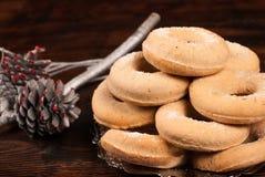 Испанские bagels рождества Стоковая Фотография