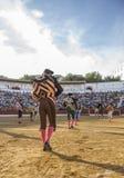 Испанские bullfighters на paseillo или начальном параде в bullri Стоковые Фото