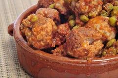 Испанские meatballs Стоковое Изображение RF