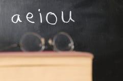 испанские vowels Стоковая Фотография