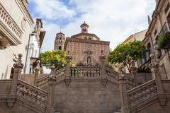 Испанский городок (Poble Espanyol) - архитектурноакустический музей под открытым небом Стоковые Фото